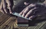 Как правильно точить кухонные ножи точильным камнем