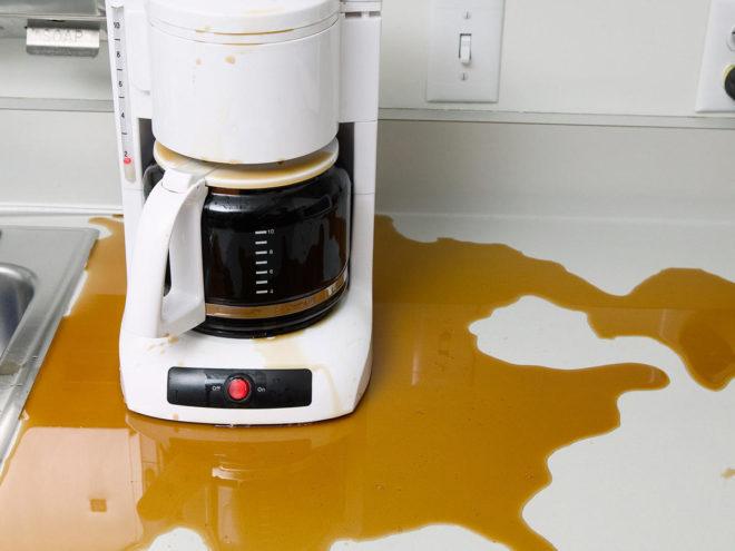грязная кофемашина